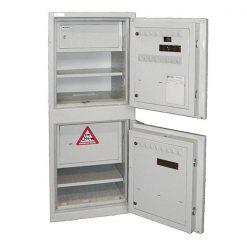 Depositsafe met interne afstortkluis open