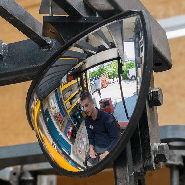 Heftruck spiegel zijkant