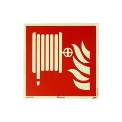Pictogram brandslanghaspel fluor 15x15 cm kopen