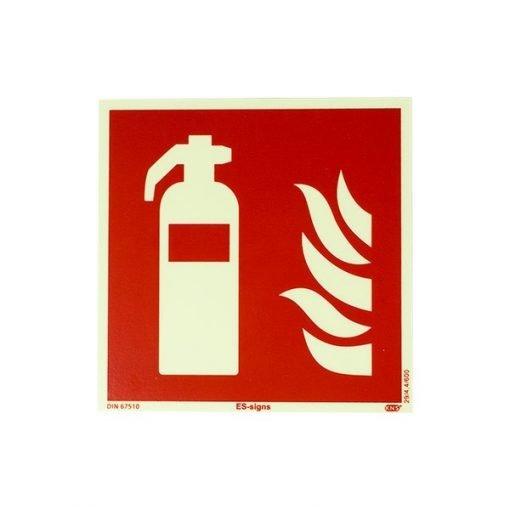 Pictogram brandblusser fluor 15x15 cm kopen