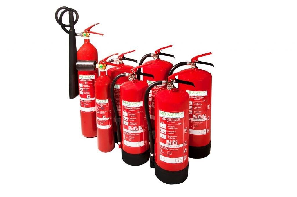 soorten brandblussers